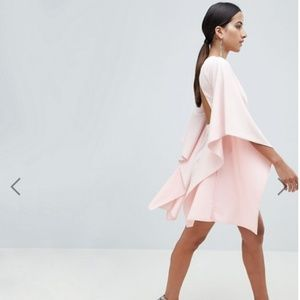 Crepe Kimono Sleeves Mini Dress